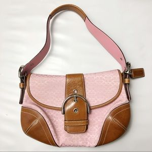 Coach Soho Signature Canvas Flap Hobo